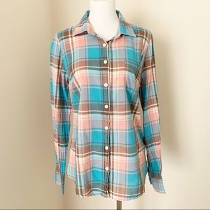 J.CREW Plaid Button Down Collared Dress Shirt S